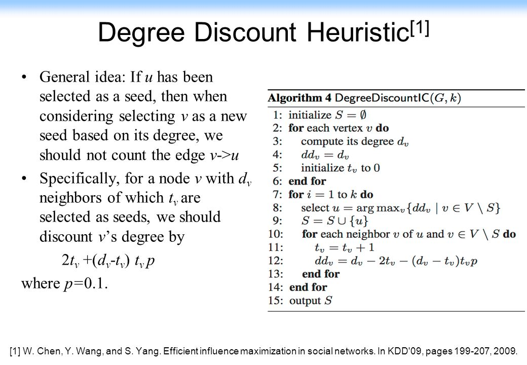 Degree Discount Heuristic[1]